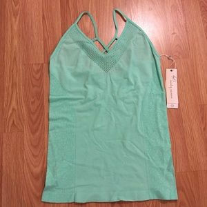 Nanette Lepore Play Active Tank Top Teal Large New